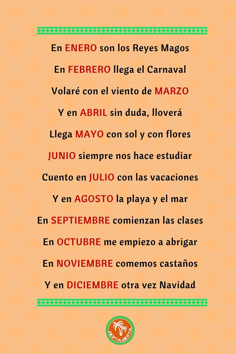 Wierszyk O Miesiącach Fiesta Siesta